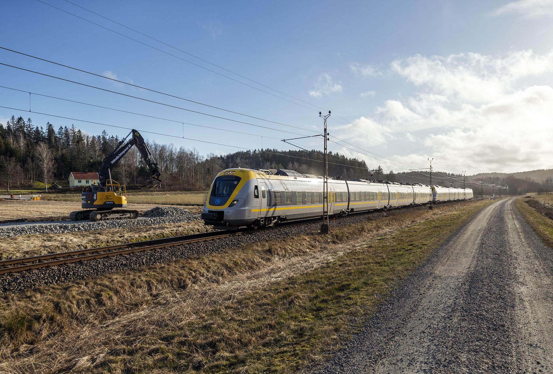 Tätare tågtrafik i Västsverige